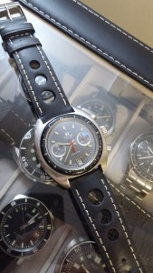 Strap on Tissot Chronograph