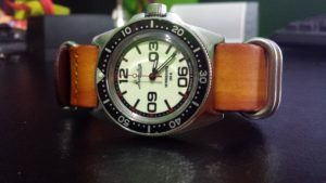 Vostok Komandirskie 110L with Nato Leather Vintage Tan