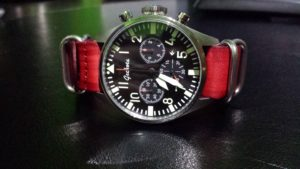 Geckota K2 with vintage nato 22mm red
