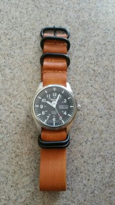 My Seiko 5 on a NATO Tan Distressed Strap