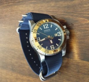 Invicta reserve. Blue 26mm nato strap