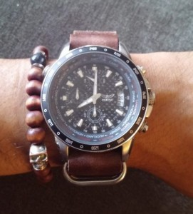 Aviator w/ Brown distressed leather NATO