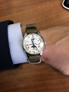 Longines Master Retrograde Moonphase 41mm on StrapsCo moss green leather strap. thank you! very satisfied!