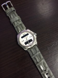 DASSARI Chopper Grey Strap on Breitling Aerospace