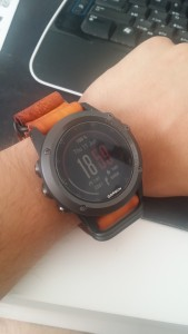 Fenix 3 with leather band