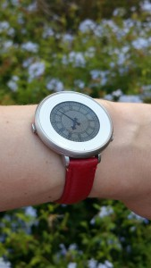 Red Leather Watch Band