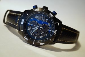 Awesome Black with White Stitching Carbon Fiber Strap to Citizen Primo Eco Drive
