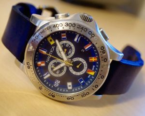 Nautica with Vintage Blue Leather Strap
