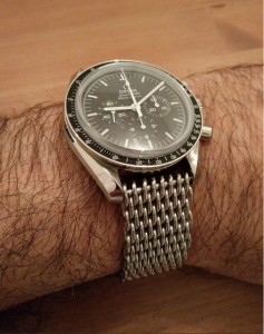 Speedmaster with shark mesh strap