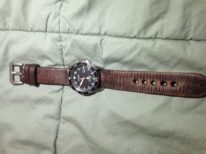 Just received my new antique vintage leather strap from Strapsco!
