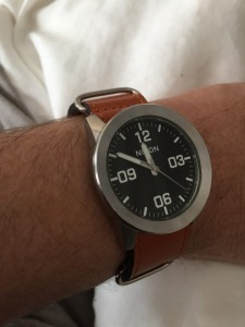 Nixon The Private 24mm Zulu Tan Leather Strap