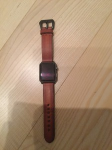Leather band 22mm for Apple Watch Sport space grey