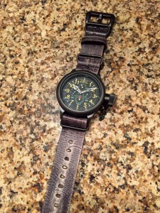 Invicta RD Multifunction on Strapsco Distressed