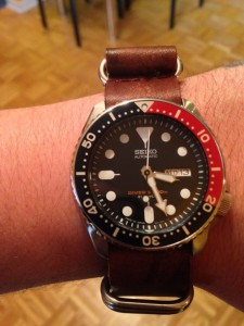 Seiko skx on brow nato strap