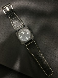 Bell & Ross BR03-92 with DASSARI primo croc embossed leather on
