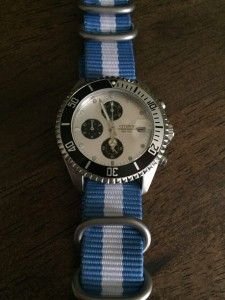 Summertime Citizen wearing Light Blue w/White Zulu 5-ring