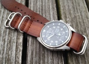 Leather zulu nato on Seiko pilot watch
