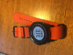 My new orange Zulu on Garmin Fenix