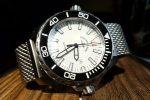 Heavy Stainless 24mm Mesh Strap on 48mm Zeno Watch Basel Automatic Diver