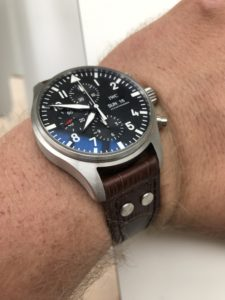 Brown leather on an IWC Pilot 3777