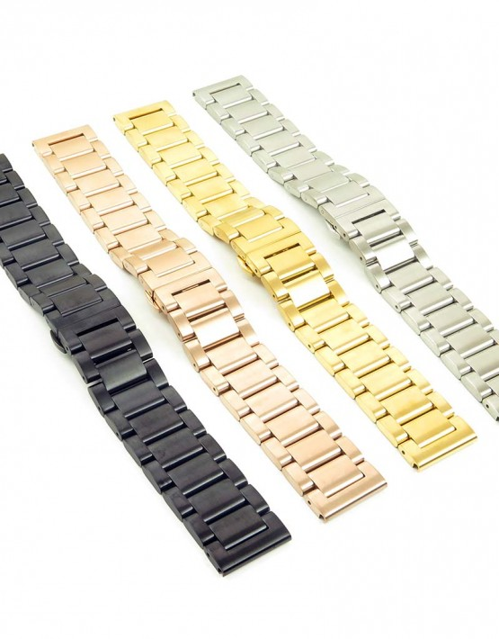 bm2 quick realese Stainless Steel Watch Strap with Quick Release Pins fits Seiko