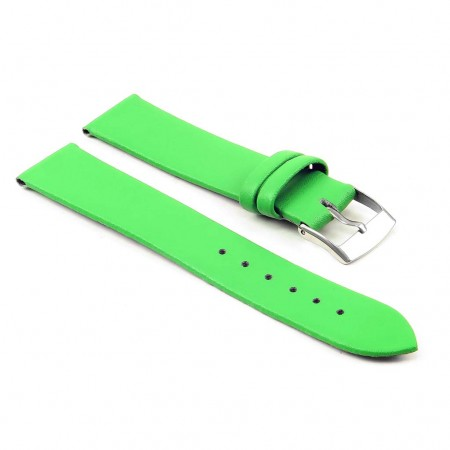 301.11 Womens Thin Leather Watch Strap in Green
