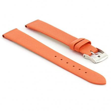 301.12 Womens Thin Leather Watch Strap in Orange