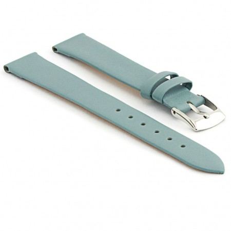 301.16 Womens Thin Leather Watch Strap in Light Blue