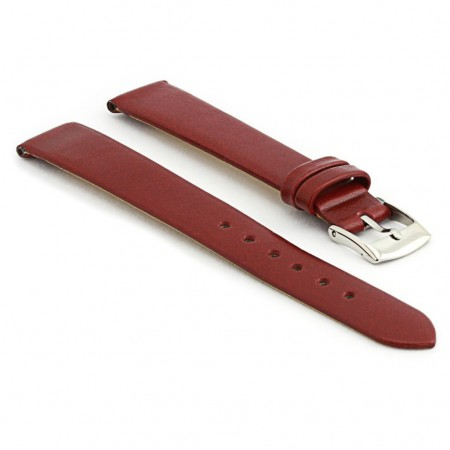 301.4 Womens Thin Leather Watch Strap in Burgundy
