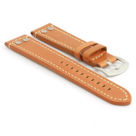 381.3 Leather Strap with Rivets in Tan