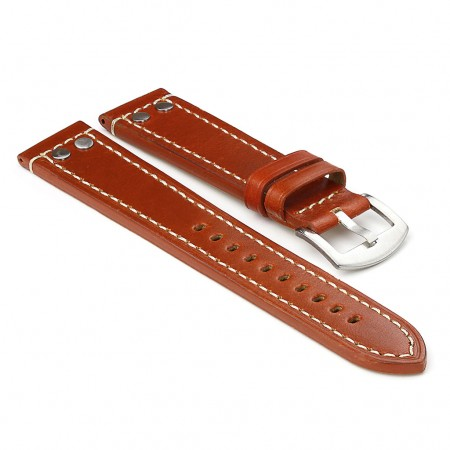 381.8 Leather Strap with Rivets in Rust