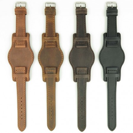 All Color DASSARI Legend p612 Distressed Italian Leather Bund Strap