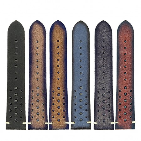 All Color DASSARI Speedster ra2 Perforated Vintage Leather Rally Strap