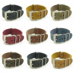 All Color NT.pv Leather NATO Strap w Pre-V Buckle