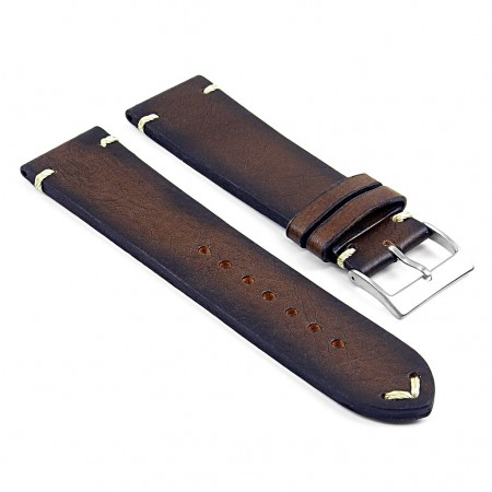 DASSARI Kingwood ds5.2 Premium Vintage Italian Leather Strap in Brown