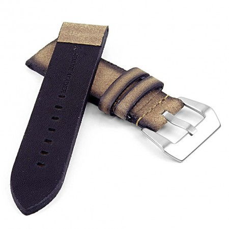 DASSARI Opus ps2.2 Thick Distressed Italian Leather Strap in Sand