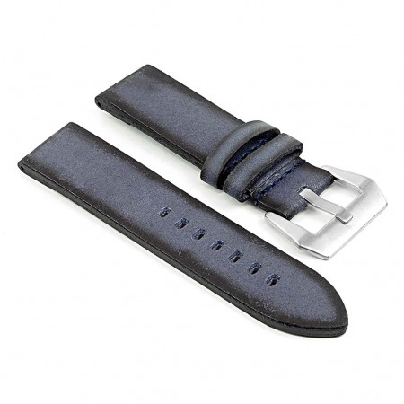 DASSARI Opus ps2.5 Thick Distressed Italian Leather Strap in Blue