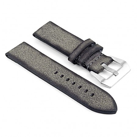DASSARI Opus ps2.7 Thick Distressed Italian Leather Strap in Grey