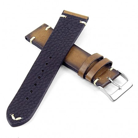 DASSARI Regal ds7.11 Vintage Leather Strap with Hand Sewn Stitching in Green