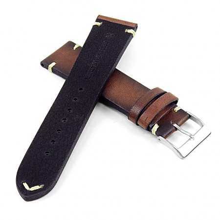 DASSARI Regal ds7.2 Vintage Leather Strap with Hand Sewn Stitching in Brown