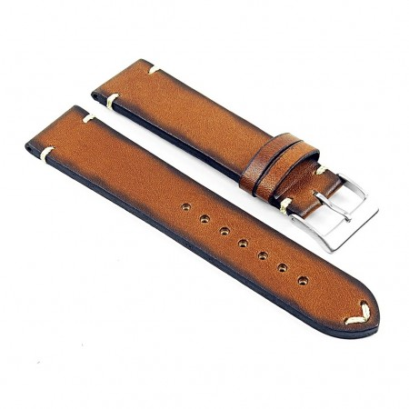 DASSARI Regal ds7.3 Vintage Leather Strap with Hand Sewn Stitching in Tan