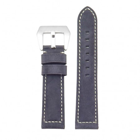 DASSARI Salvage p560a.3 Thick Padded Distressed Italian Leather Strap w Pre V Buckle in blue