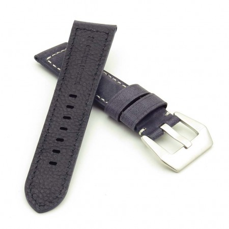 DASSARI Salvage p560a.5 Thick Padded Distressed Italian Leather Strap w Pre V Buckle in blue