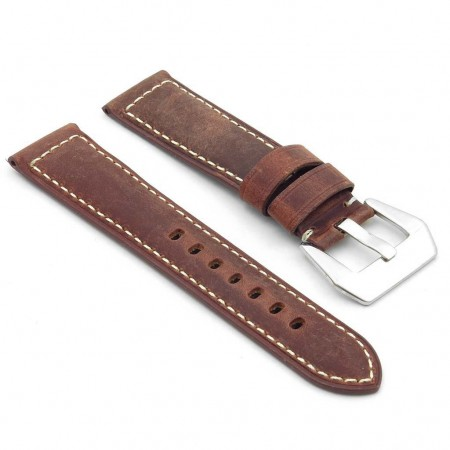 DASSARI Salvage p560a.8 Thick Padded Distressed Italian Leather Strap w Pre V Buckle in rust