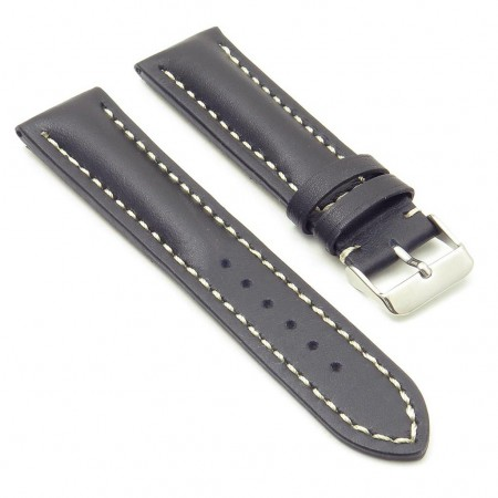 DASSARI Transit brb2.1.22 Smooth Italian Leather Strap with white stitching