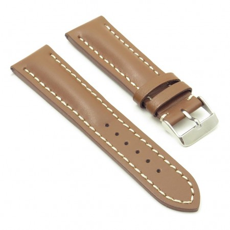 DASSARI Transit brb2.3.22 Smooth Italian Leather Strap tan with white stitching