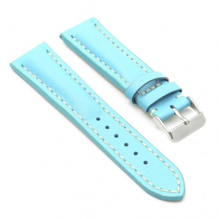 DASSARI Transit brb2.5.22 Smooth Italian Leather Strap light blue with white stitching