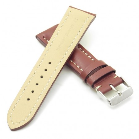 DASSARI Transit brb2.9.22 Smooth Italian Leather Strap rust with white stitching rust with white stitching