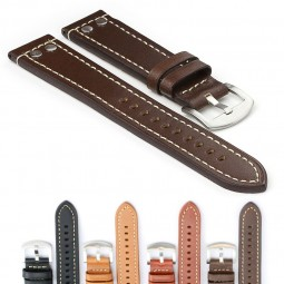 381.2 Leather Strap with Rivets in Dark Brown