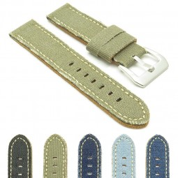Gallery 390 Frayed Edge Canvas Watch Strap
